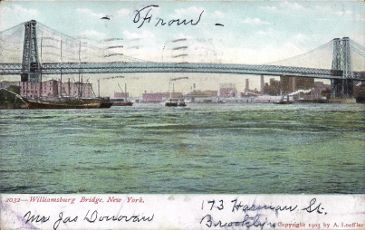 [Postcard of the Williamsburg Bridge, New York.]