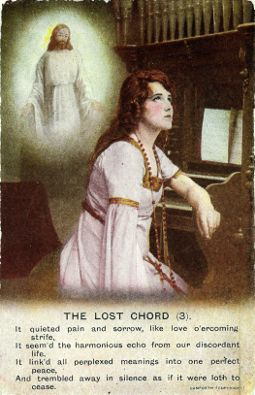 Lost Chord post card, from Bamforth (ca. 1910)