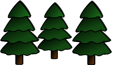 An illustration of three trees