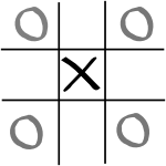 Second player's drawing moves when the first player chooses the centre square