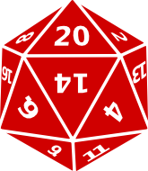 [Twenty-sided die]